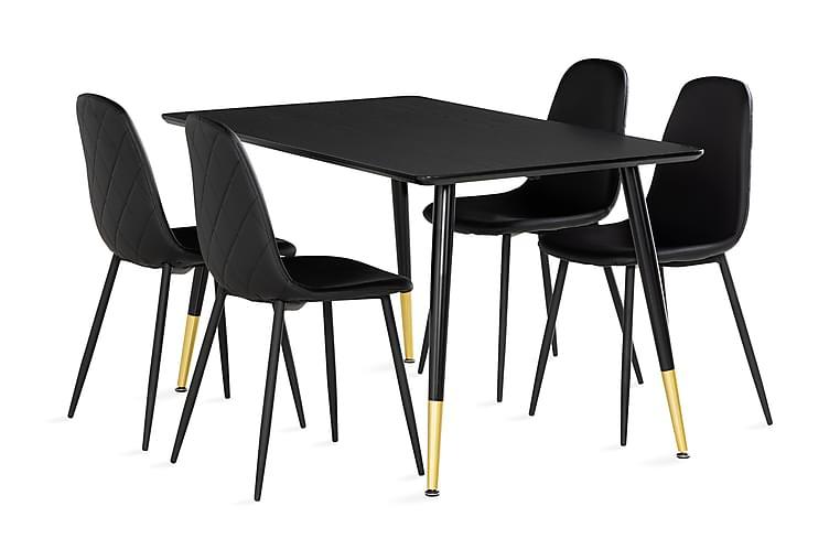 Filipstad Spisebord 140 cm med 4 Nibe Stoler - Møbler - Spisegrupper - Rektangulær spisegruppe