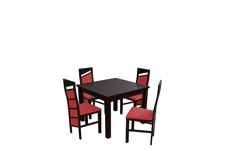 Itis Spisegruppe - Valnøtt - Møbler - Spisegrupper - Rektangulær spisegruppe
