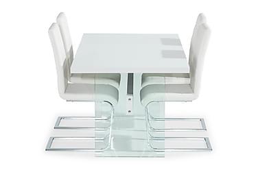 Jamice Forlengninsgbart Spisebord med 4 Nibe Spisestoler