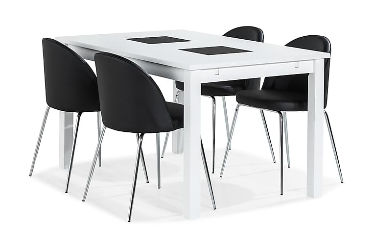 Jasmin Spisebord 140 cm 4 Felipe Stoler Kunstlær - Møbler - Spisegrupper - Rektangulær spisegruppe