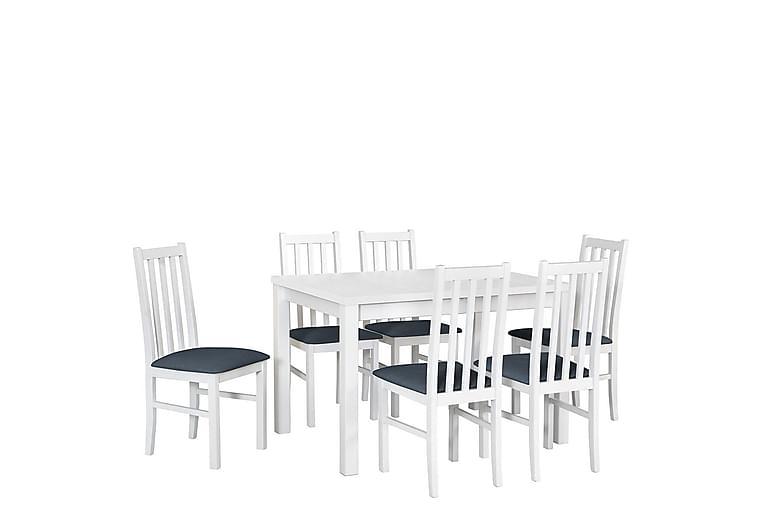 Jeni Spisegruppe - Vit - Møbler - Spisegrupper - Rektangulær spisegruppe