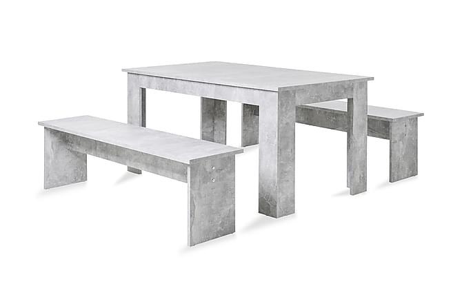 Julianne Spisebord - Grå - Møbler - Spisegrupper - Rektangulær spisegruppe