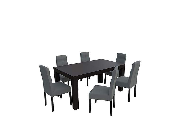 Kasma Spisegruppe - Wenge - Møbler - Spisegrupper - Rektangulær spisegruppe