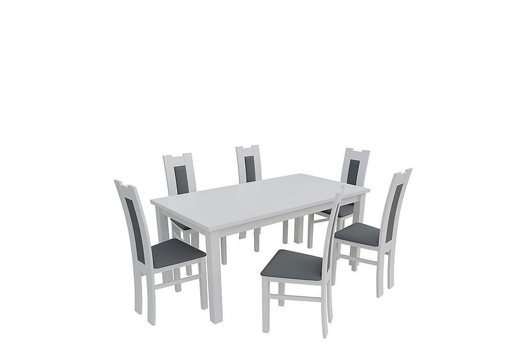 Kumo Spisegruppe - Hvit - Møbler - Spisegrupper - Rektangulær spisegruppe
