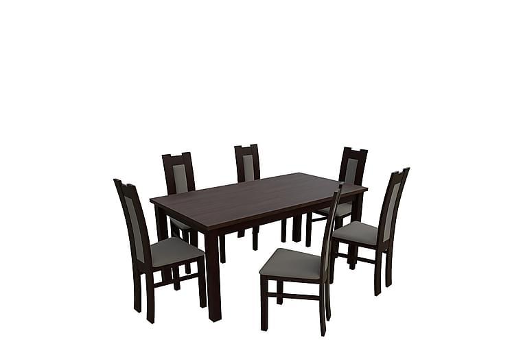 Kumo Spisegruppe - Valnøtt - Møbler - Spisegrupper - Rektangulær spisegruppe