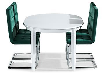 Läckö Spisebord Forlengningsbart Med 4 Jessed Spisestoler
