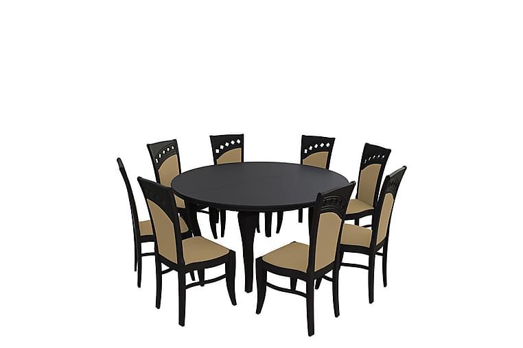 Letala Spisegruppe - Beige - Møbler - Spisegrupper - Rektangulær spisegruppe