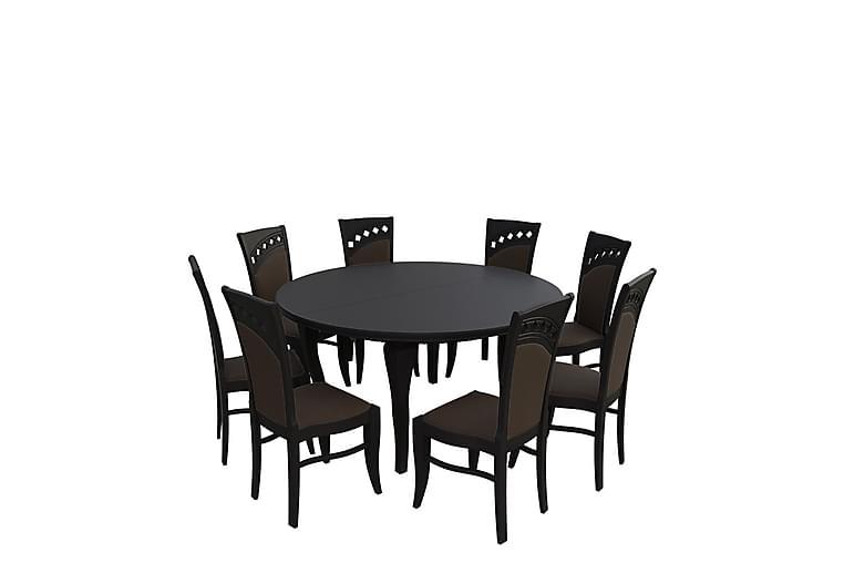 Letala Spisegruppe - Mørkebrun - Møbler - Spisegrupper - Rektangulær spisegruppe