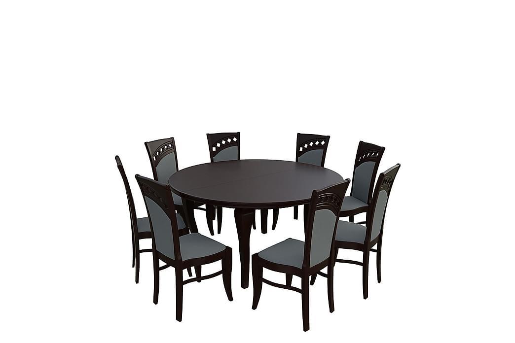 Letala Spisegruppe - Valnøtt - Møbler - Spisegrupper - Rektangulær spisegruppe
