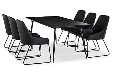 Lilo Spisebord 180 cm med 6 Mino SpiseStoler