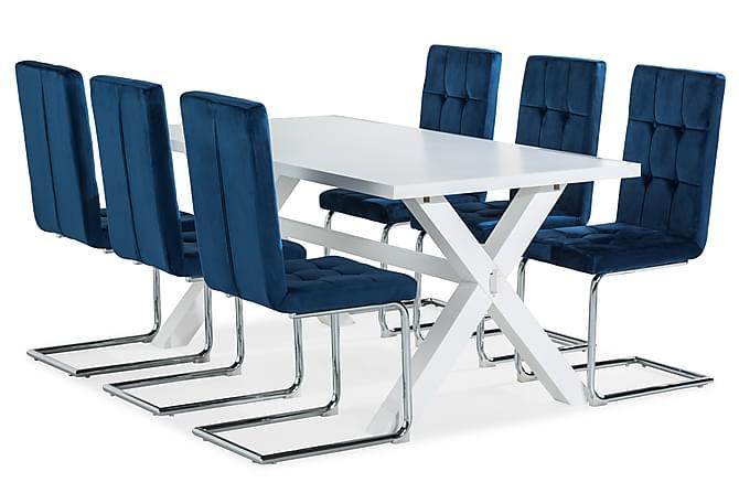 Linnea Spisebord 180 cm Med 6 Jessed Spisestoler - Møbler - Spisegrupper - Rektangulær spisegruppe