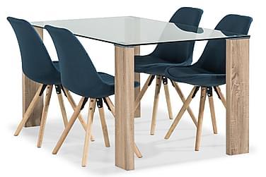 Marcelen Spisebord med 4 Forum Spisestoler