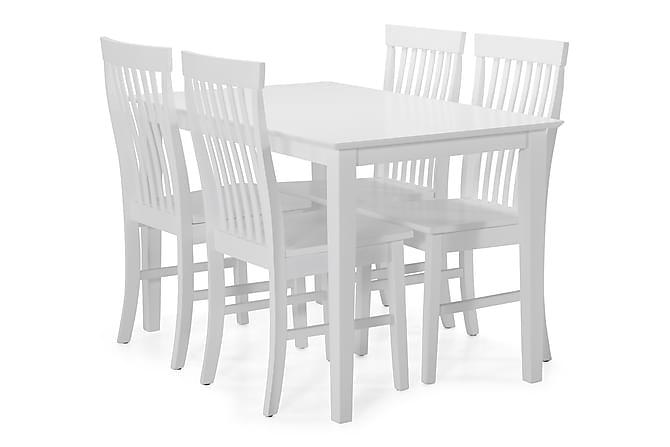 Michigan Spisegruppe med 4 Augusta stoler - Hvit - Møbler - Spisegrupper - Rektangulær spisegruppe
