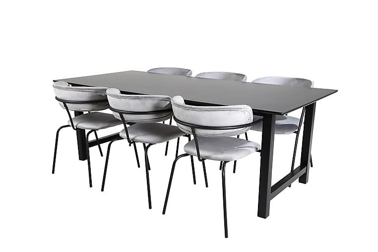Naomi Spisebord med 6 Arcarazo Spisestoler - Møbler - Spisegrupper - Rektangulær spisegruppe