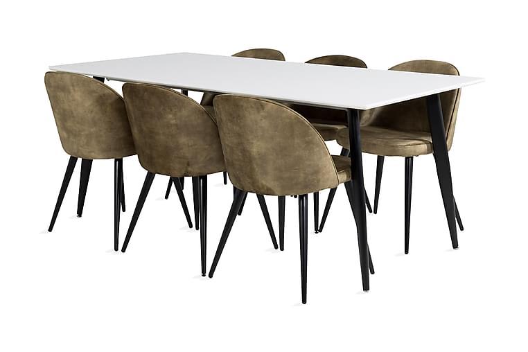 Pontus Spisebord 180 cm Med 6 Sedavi Spisestoler - Møbler - Spisegrupper - Rektangulær spisegruppe