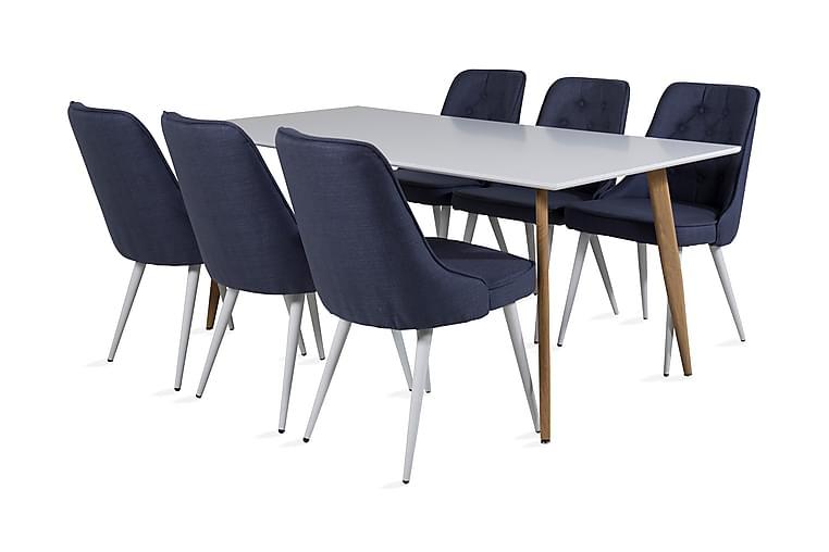 Pontus Spisebord 180 cm Med 6 Valera Spisestoler - Møbler - Spisegrupper - Rektangulær spisegruppe