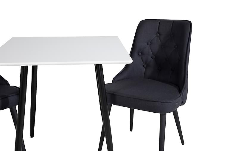 Pontus Spisebord 75 cm med 2 stk Valera Spisestol - Møbler - Spisegrupper - Rektangulær spisegruppe