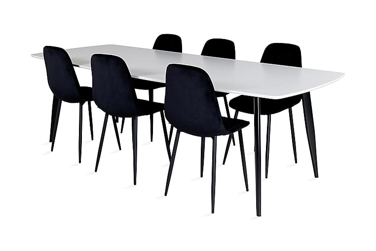 Pontus Spisebord med 6 Ypas Spisestoler - Møbler - Spisegrupper - Rektangulær spisegruppe