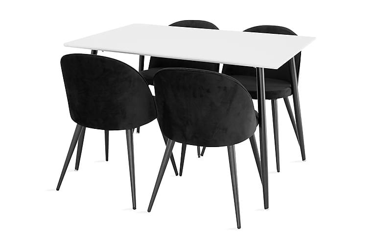 Pontus Spisegruppe med 4 Valeri Spisestoler - Møbler - Spisegrupper - Rektangulær spisegruppe
