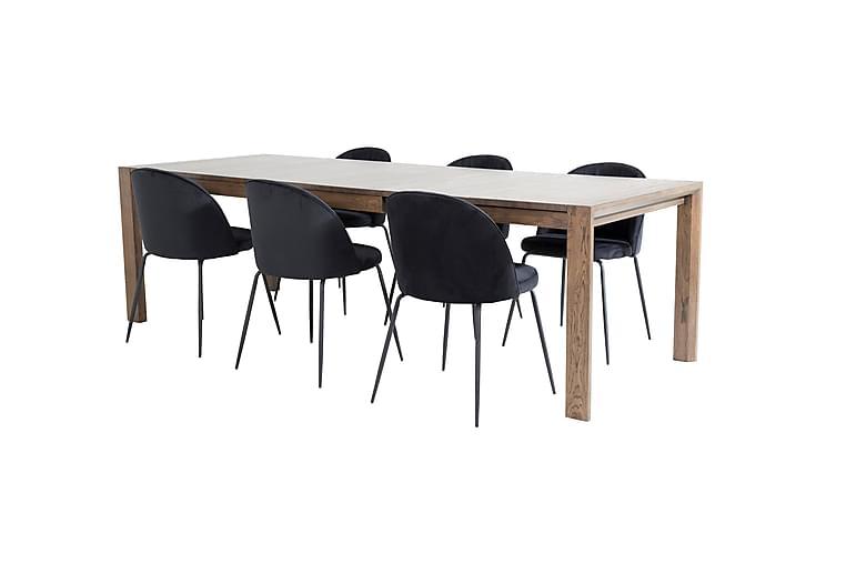 Torresolana Spisebord med 6 stk Foyos Spisestol - Møbler - Spisegrupper - Rektangulær spisegruppe