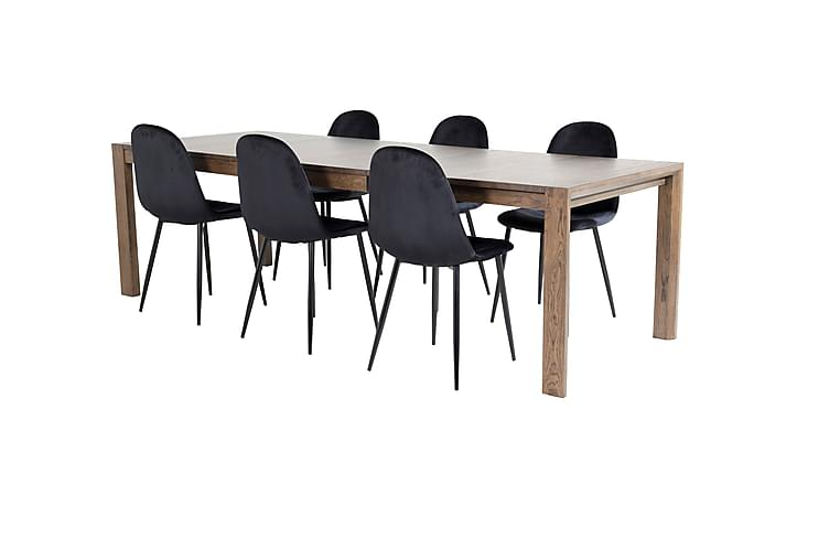 Torresolana Spisebord med 6 stk Pontus Kjøkenstol - Møbler - Spisegrupper - Rektangulær spisegruppe
