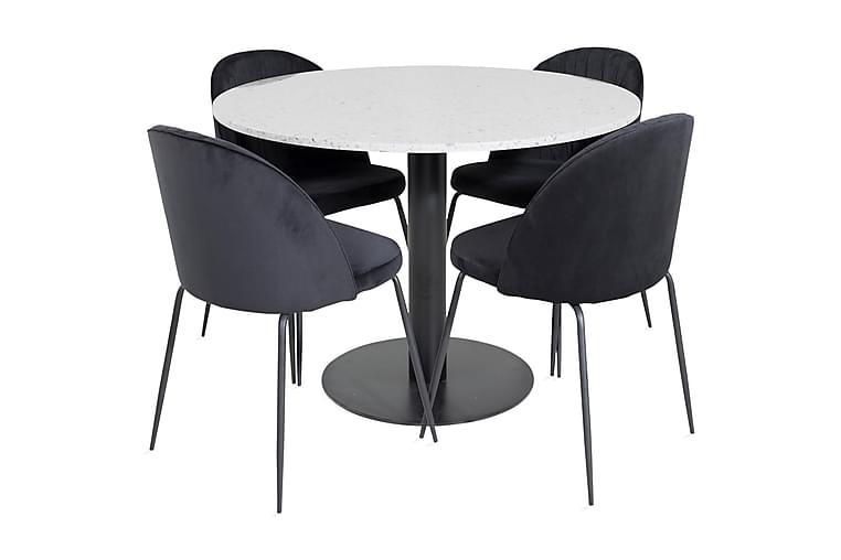 Valera Spisebord 106 cm med 4 Foyos Spisestoler - Møbler - Spisegrupper - Rektangulær spisegruppe