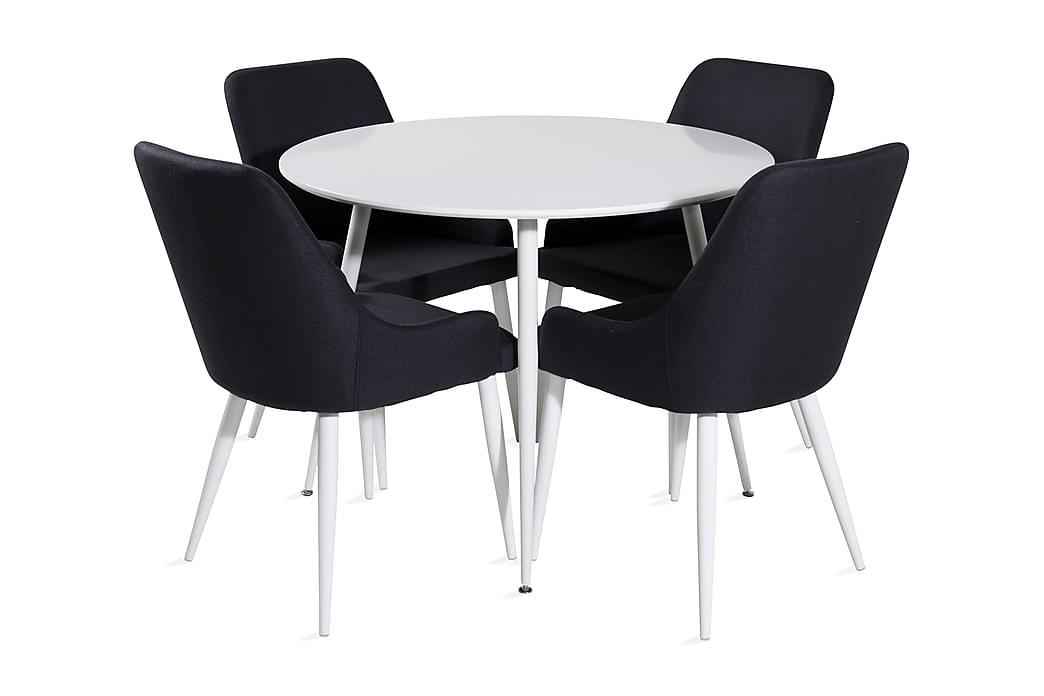 Ridones Spisebord Rund med 4 Ridones Spisestoler - Møbler - Spisegrupper - Rund spisegruppe