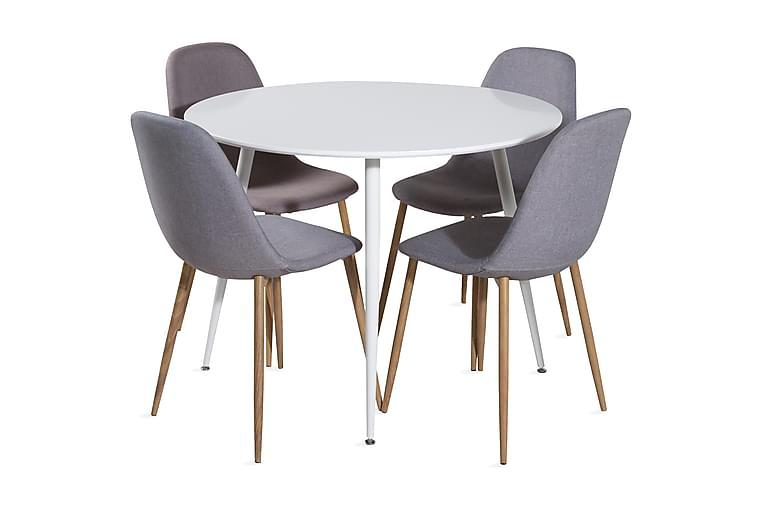 Ridones Spisebord Rund med 4 Spisestoler - Møbler - Spisegrupper - Rund spisegruppe