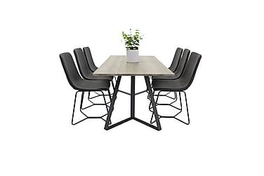 Malvina Spisebord med 6 Thella Stoler