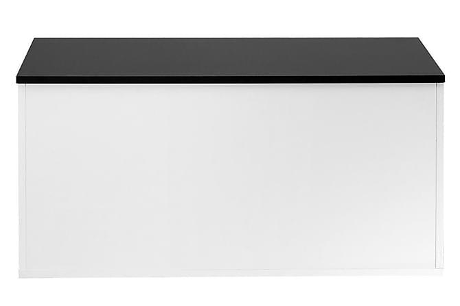 Grycksbo Benk med Oppbevaring - Hvit/Svart - Møbler - Stoler - Benk