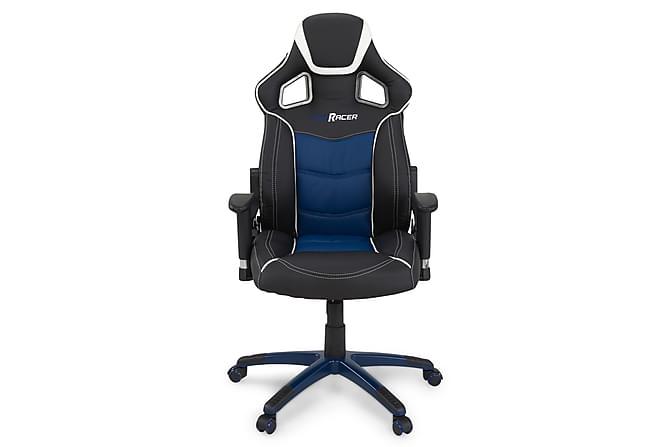Pro Racer Gamingstol Kunstlær - Svart/Blå - Møbler - Stoler - Kontorstol & skrivebordsstol