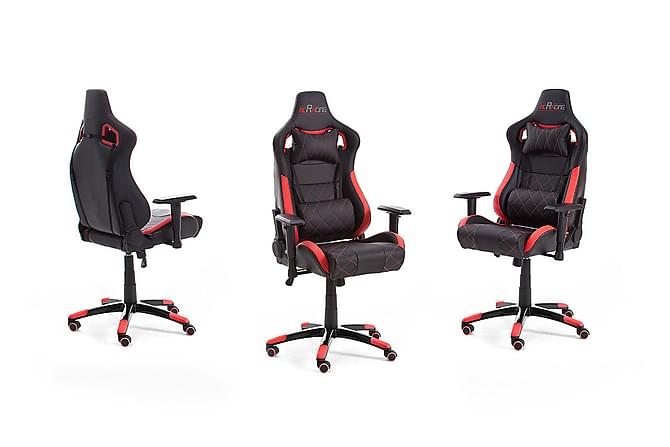 Racing Gamingstol Kunstlær - Svart/Rød - Møbler - Stoler - Kontorstol & skrivebordsstol