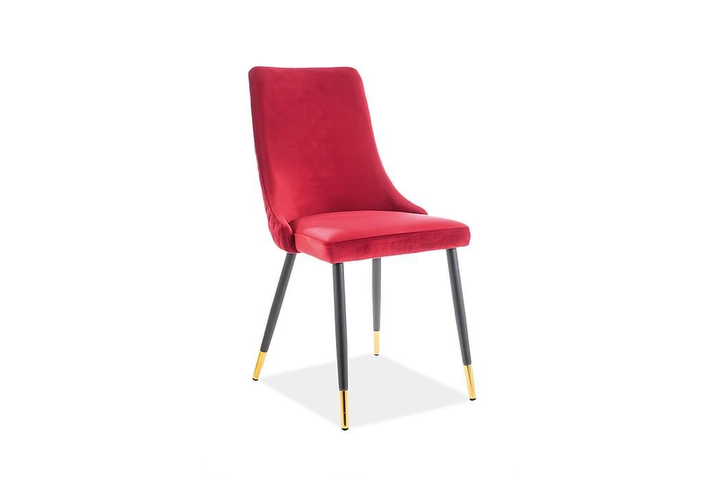 Apiano Spisestol 2-pk - Fløyel/Rød - Møbler - Stoler - Spisestuestoler & kjøkkenstoler
