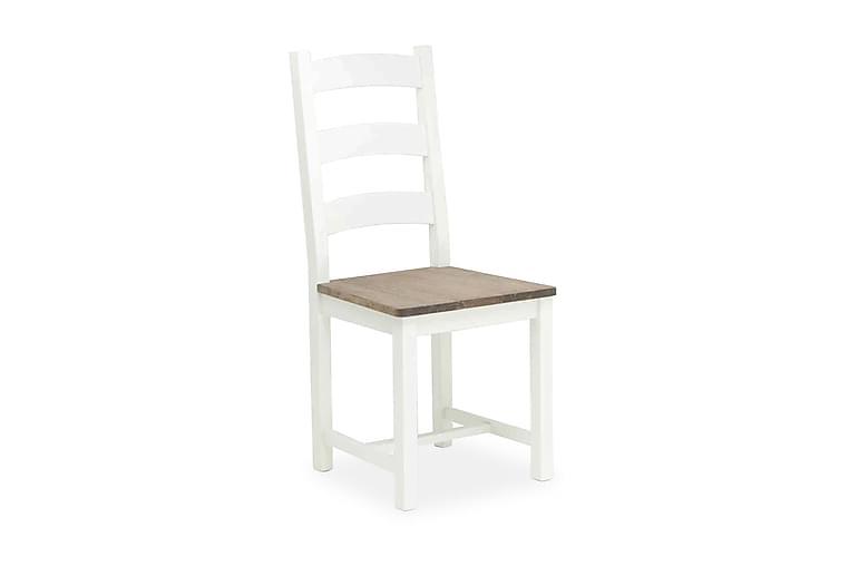 Carita Kjøkkenstol - Hvit/Grå - Møbler - Stoler - Spisestuestoler & kjøkkenstoler