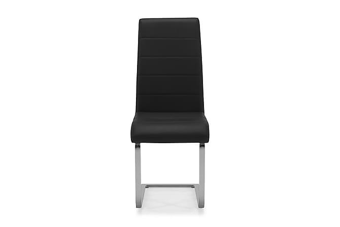 Cibus Spisestol Kunstlær - Svart/Krom - Møbler - Stoler - Spisestuestoler & kjøkkenstoler