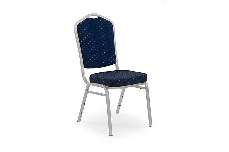Devan Spisestol - Blå/Krom - Møbler - Stoler - Spisestuestoler & kjøkkenstoler