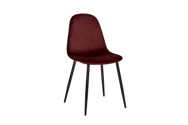 Iben Kjøkkenstol Fløyel - Vinrød - Møbler - Stoler - Spisestuestoler & kjøkkenstoler