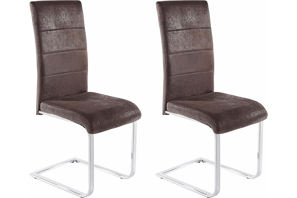 Kador Spisestol Mikrofiber 2-pk - Antrasitt - Møbler - Stoler - Spisestuestoler & kjøkkenstoler