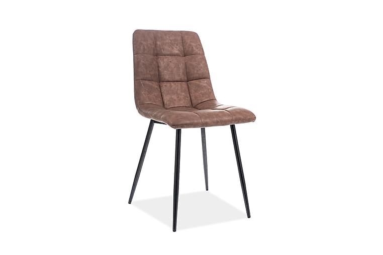 Looki Spisestol 4-pk - Kunstlær/Brun - Møbler - Stoler - Spisestuestoler & kjøkkenstoler