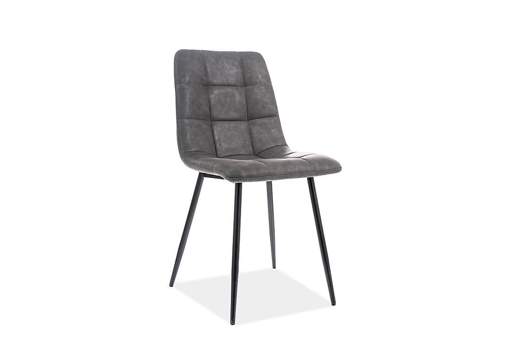 Looki Spisestol 4-pk - Kunstlær/Grå - Møbler - Stoler - Spisestuestoler & kjøkkenstoler