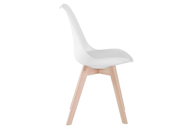Lovi Spisestol 6-pk Kunstlær - Hvit/Eik - Møbler - Stoler - Spisestuestoler & kjøkkenstoler