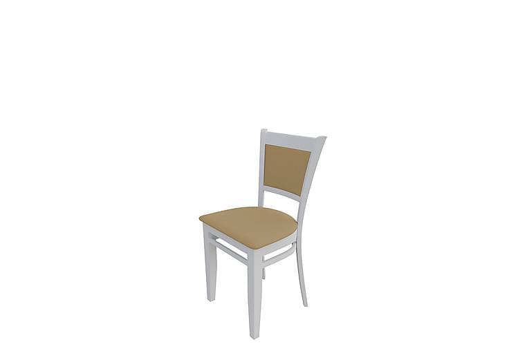 Lyone Spisestol - Plysch/Hvit/Beige - Møbler - Stoler - Spisestuestoler & kjøkkenstoler