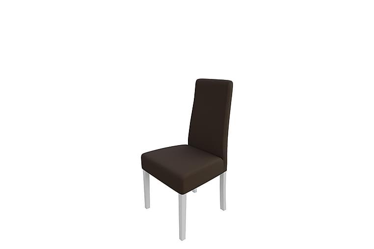 Manasa Spisestol - Plysch/Hvit/Brun - Møbler - Stoler - Spisestuestoler & kjøkkenstoler
