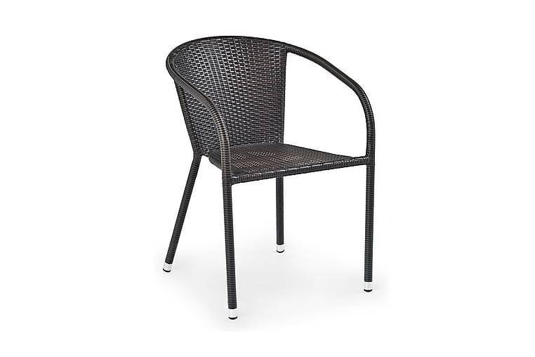 Midas Karmstol Kunstrotting - Brun - Møbler - Stoler - Spisestuestoler & kjøkkenstoler