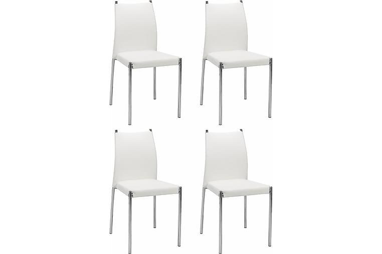 Osane Spisestol Kunstlær 4-pk - Hvit - Møbler - Stoler - Spisestuestoler & kjøkkenstoler