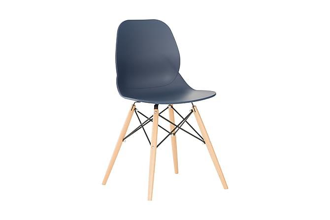 Scoon Spisestol - Mørkeblå/Tre - Møbler - Stoler - Spisestuestoler & kjøkkenstoler
