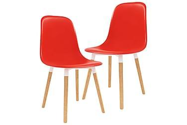 Spisestoler 2 stk rød plast