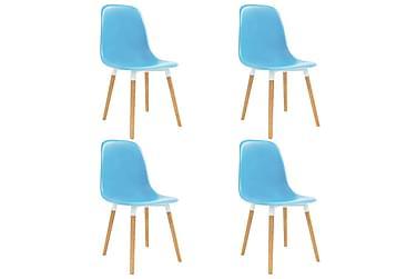 Spisestoler 4 stk blå plast
