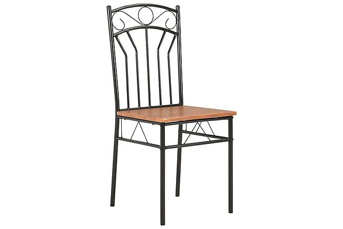 Spisestoler 4 stk brun MDF - Brun - Møbler - Stoler - Spisestuestoler & kjøkkenstoler