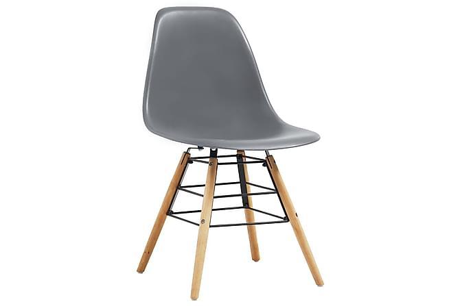 Spisestoler 4 stk grå - Grå - Møbler - Stoler - Spisestuestoler & kjøkkenstoler